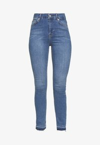 NA-KD Tall - HIGH WAIST OPEN - Jeans Skinny Fit - mid blue - 3