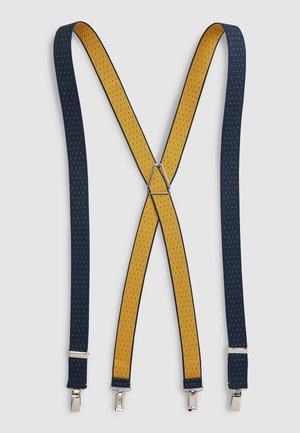 NAVY/YELLOW SPOT POLKA DOT BRACES - Belt - blue
