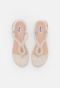 Dune London - LONGLEY - Sandály s odděleným palcem - natural - 5