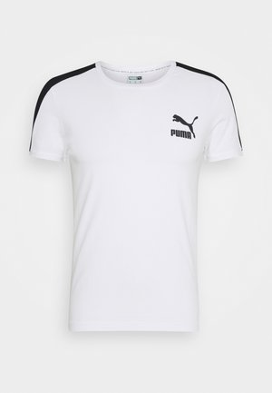 ICONIC SLIM TEE - Print T-shirt - white