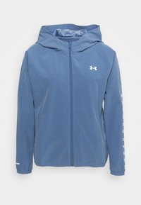 HOODED JACKET - Sports jacket - mineral blue