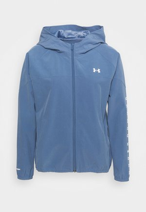 HOODED JACKET - Hardloopjack - mineral blue