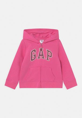 Zip-up sweatshirt - devi pink