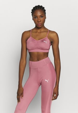 PAMELA REIF X PUMA CALLECTION RUCHING SPORT BRA - Light support sports bra - mesa rose