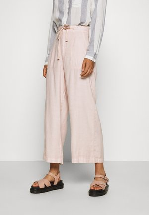SUPER HIGH RISE WIDE LEG - Trousers - peach