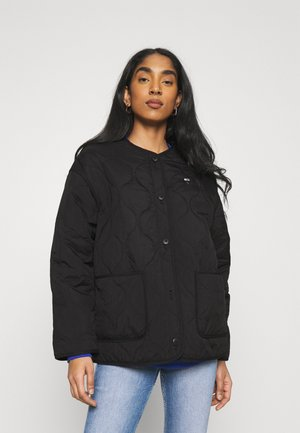 QUILTED LINER JACKET - Lehká bunda - black