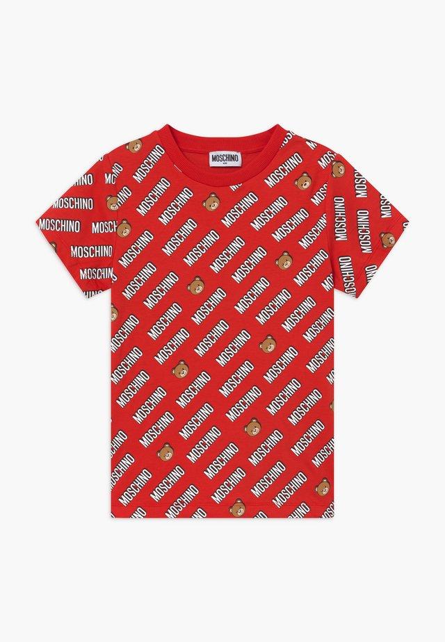 Print T-shirt - poppy red