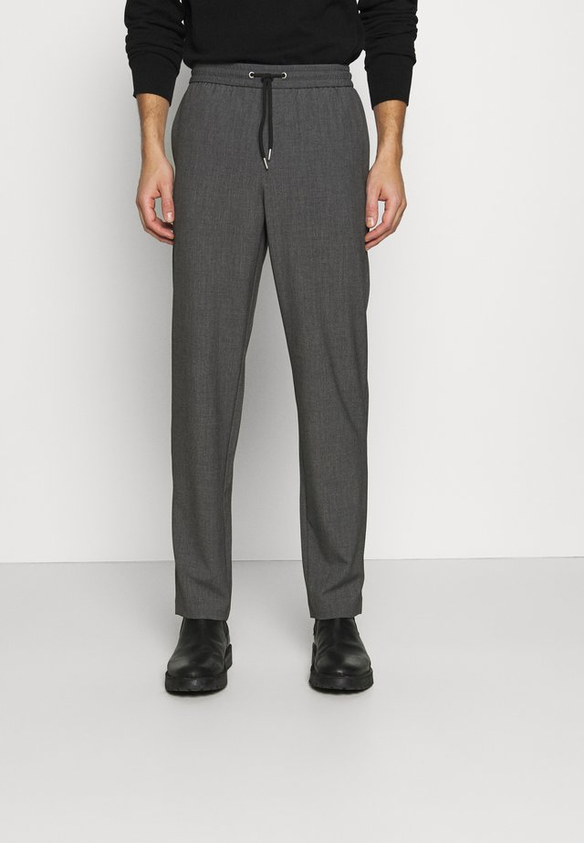 WITH DRAWSTRING - Pantalon classique - grey mix