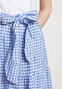 Polo Ralph Lauren - GINGHAM - A-line skirt - medium blue - 6