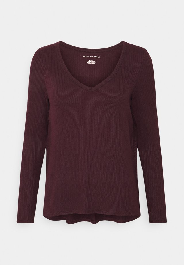 BUTTER PLUSH  - Langarmshirt - burgundy