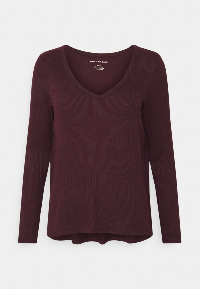 American Eagle - BUTTER PLUSH  - Long sleeved top - burgundy