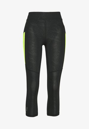 ONPANGILIA LIFE 3/4 TIGHTS - Leggings - Trousers - black/ yellow
