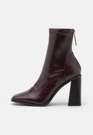 Classic ankle boots - dark red