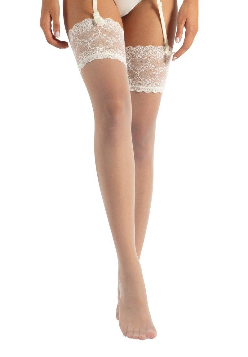 Calzitaly - BRIDAL  - Over-the-knee socks - ivory