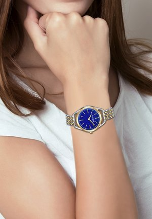 Horloge - silber/gelbgold