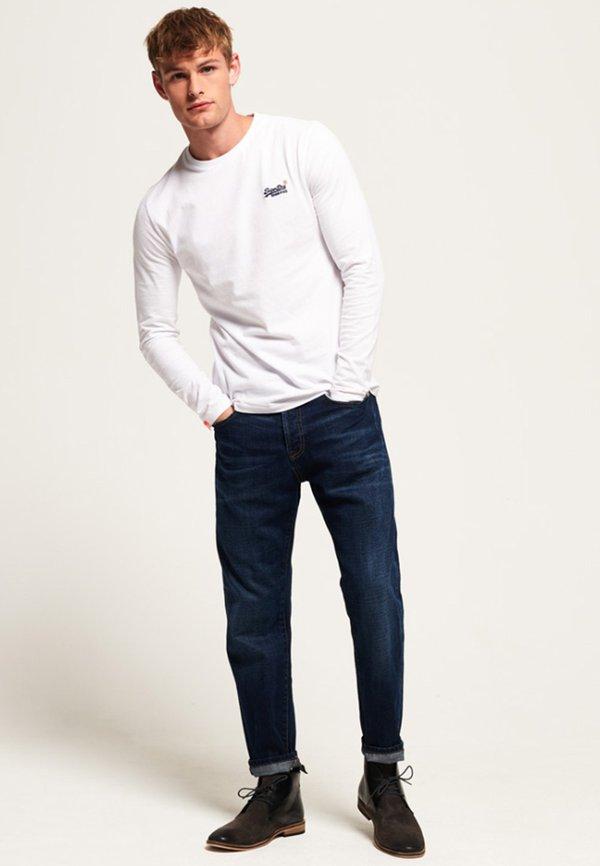 Superdry ORANGE LABEL VINTAGE TEE - Bluzka z długim rękawem - white/biały Odzież Męska BCEX