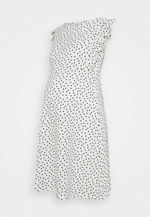 MLEVELIN DRESS - Vapaa-ajan mekko - snow white/black