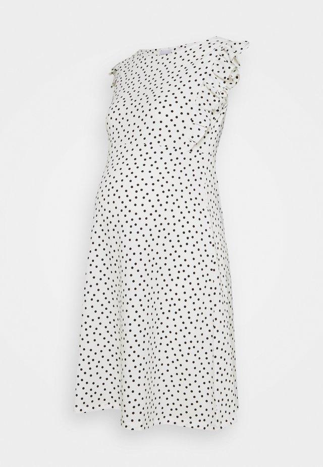 MLEVELIN DRESS - Denní šaty - snow white/black