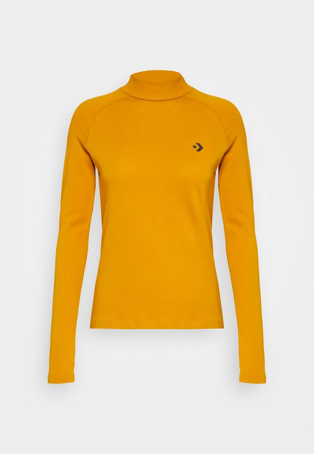 MOCK NECK LONG SLEEVE  - Long sleeved top - saffron yellow