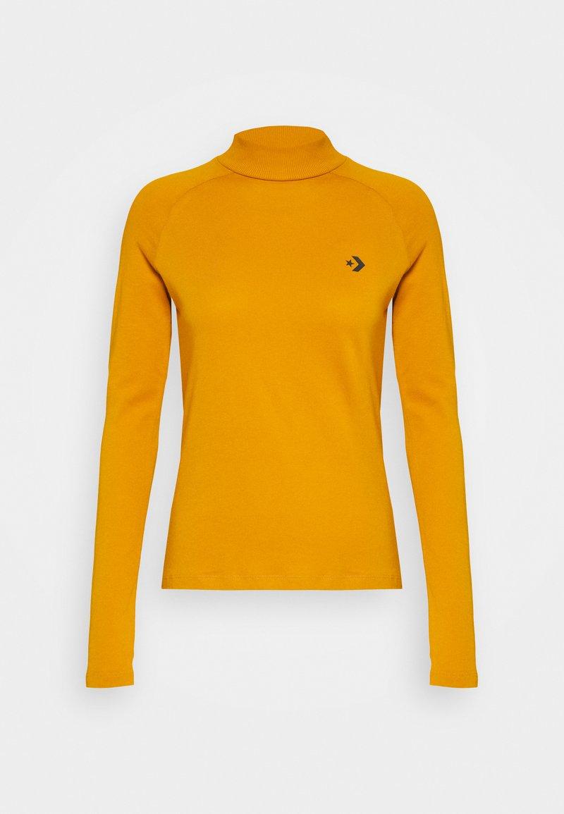 Converse - MOCK NECK LONG SLEEVE  - Long sleeved top - saffron yellow