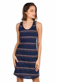 Kazane - INGRID - Jersey dress - blue/stripe - 0