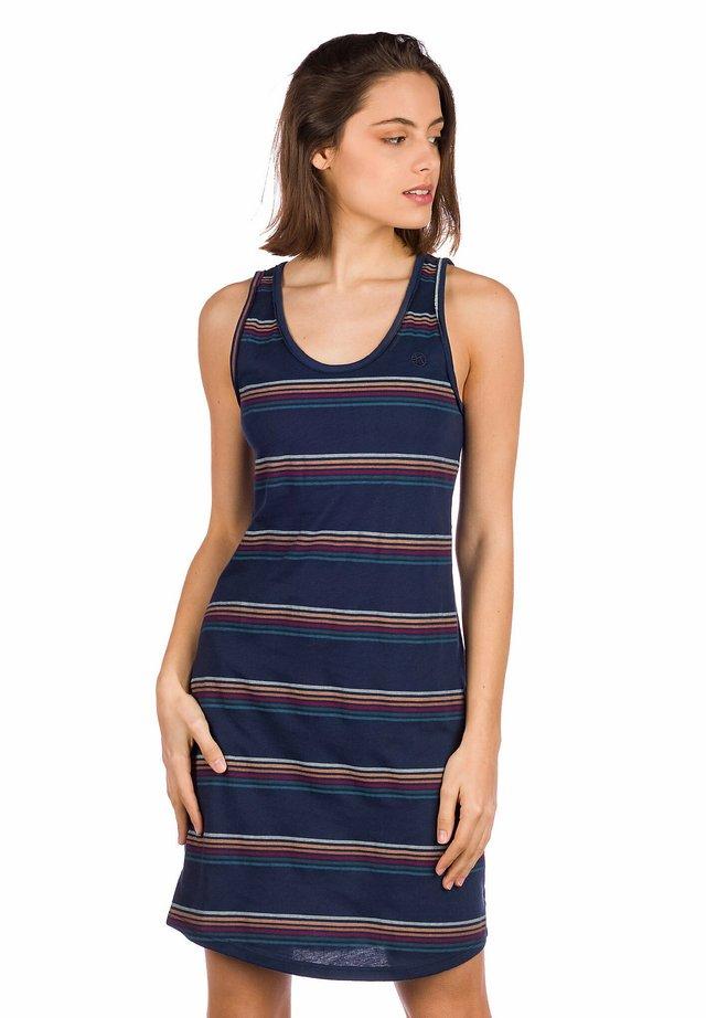 INGRID - Jersey dress - blue/stripe