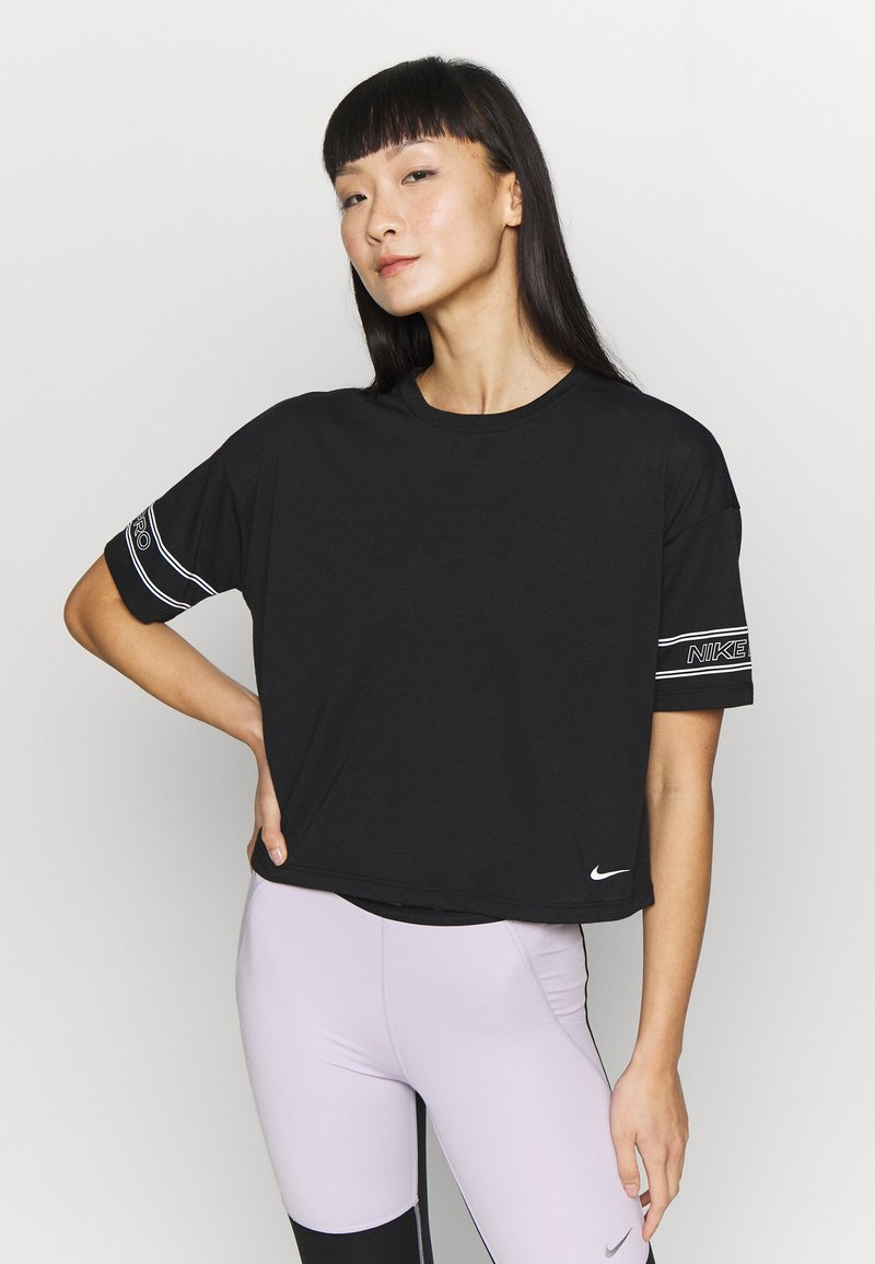 Nike Performance - Camiseta estampada - black/white