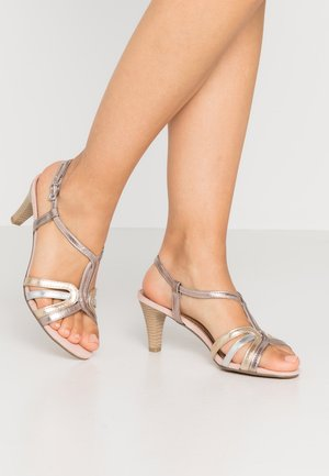Riemensandalette - rose metallic