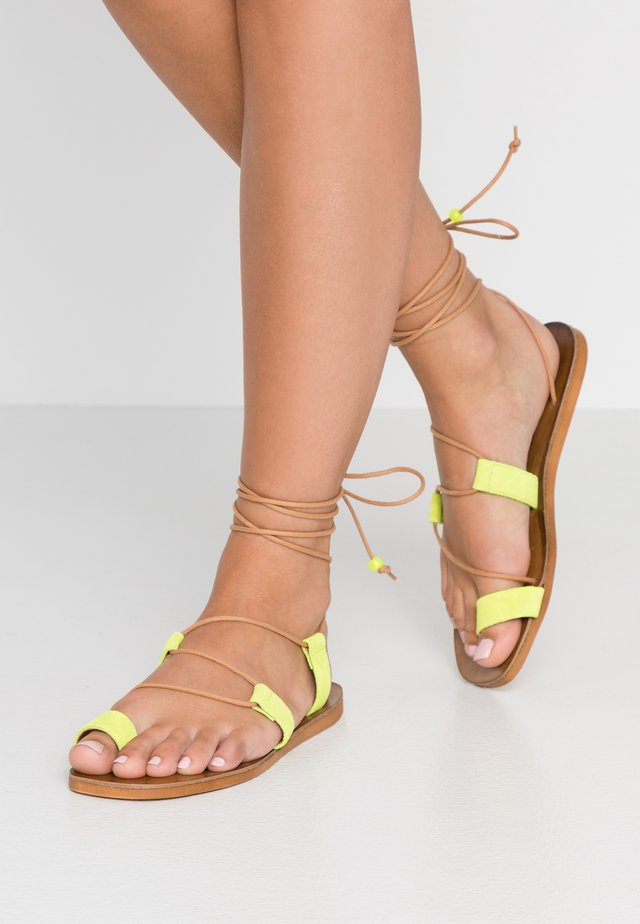 CUPCAKE - T-bar sandals - yellow