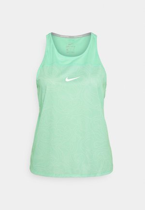 RUN MILER TANK  - Top - green glow/reflective silver