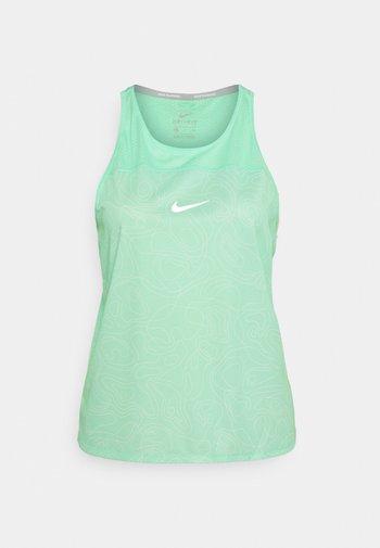 RUN MILER TANK  - Top - green glow/reflective silver