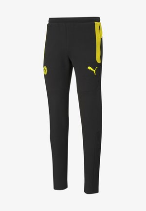 Tracksuit bottoms - cyber yellow black