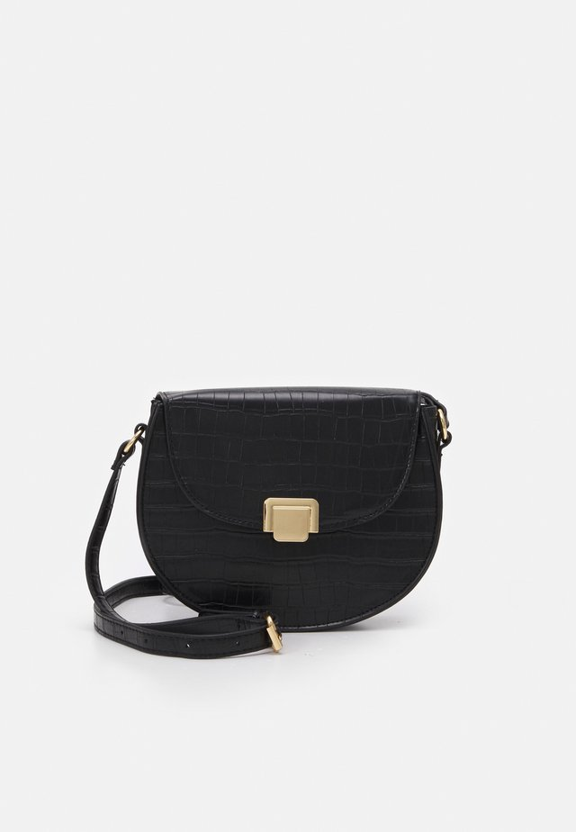 ERIC CROC SADDLE BAG - Torba na ramię - black