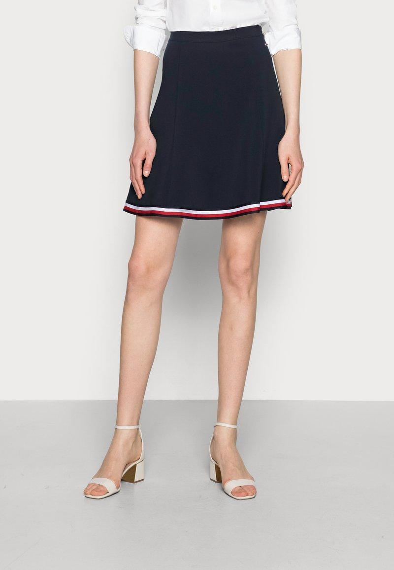 Tommy Hilfiger - ANGELA SHORT SKIRT - A-line skirt - blue