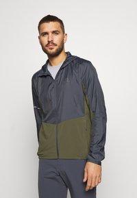 Salomon - AGILE HOODIE - Outdoor jacket - olive night/ebony - 0