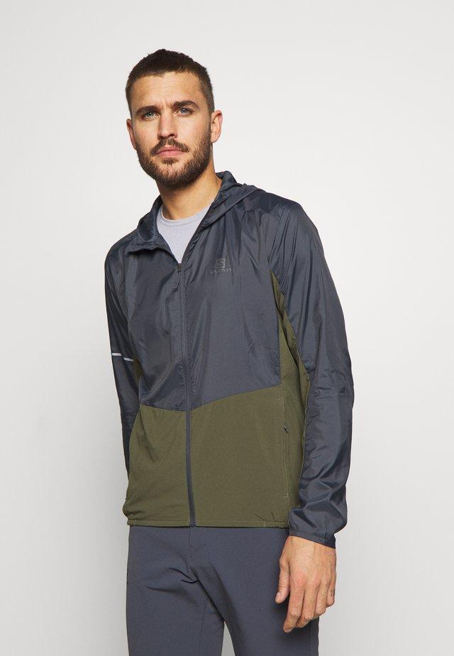 AGILE HOODIE - Outdoor jacket - olive night/ebony