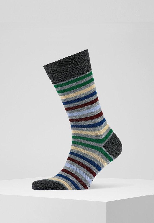 Socks - m.grey mel (3530)