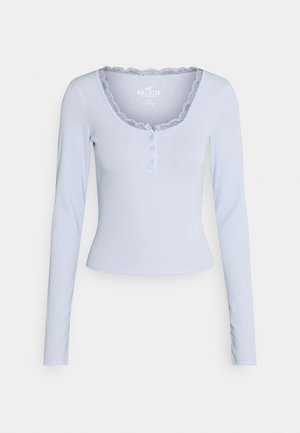BUTTON THRU HENLEY - Long sleeved top - xenon