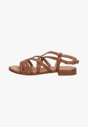 Sandals - cognac nappa