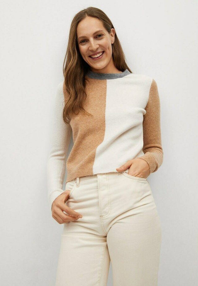 JUGLAR - Sweter - gris clair/pastel