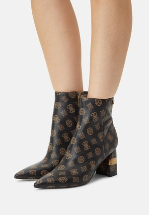 MAISY - Classic ankle boots - brown/ocra