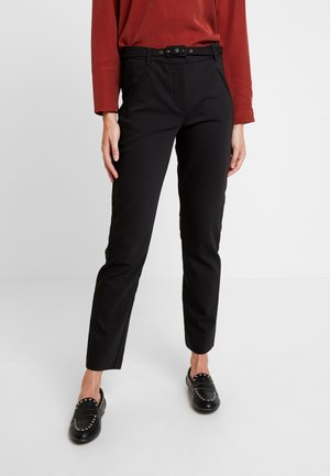 ANGELIE STRAIGHT BELTED - Trousers - black klarin