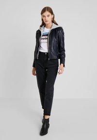 Gipsy - ANGY LAMAS - Leather jacket - dark navy - 1