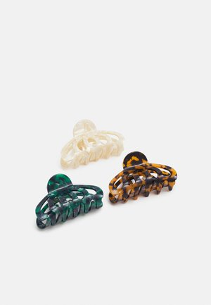 3 PACK - Hair Styling Accessory - brown/green
