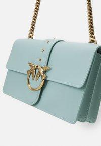 Pinko - LOVE CLASSIC ICON SIMPLY SETA ANTIQU - Across body bag - aqua green - 4