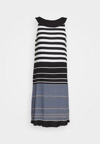 DRESS AMERICAN NECK - Jersey dress - black/white