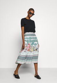 Thought - CANALETTO SKIRT - A-linjekjol - lagoon blue - 1