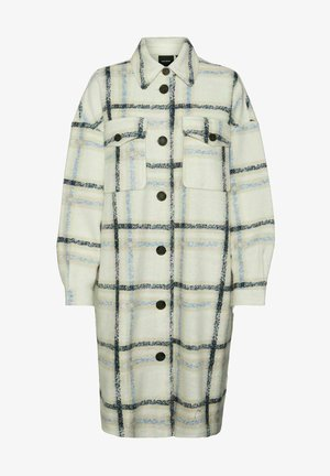 VMCHRISSIE LONG CHECK  - Classic coat - beige/off-white