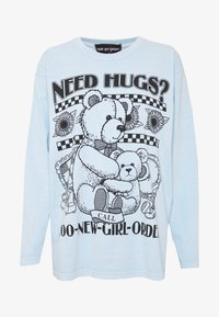 NEW girl ORDER - NEED HUGS  LONG SLEEVE TEE - Topper langermet - white - 4