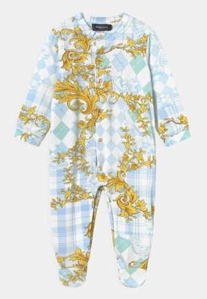 ARGYLE - Sleep suit - azzurro/oro